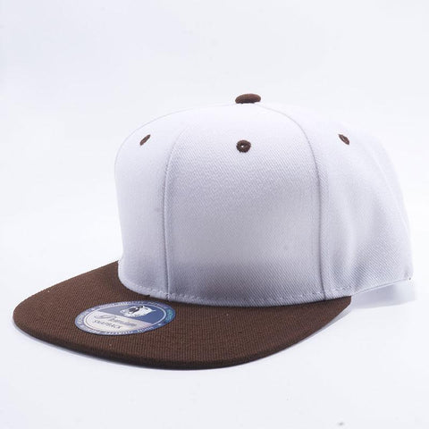 ( More Choice ) 2-tone Semi Square Flat Bill Plain Baseball Cap Blank Snapback Hat