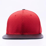 ( More Color ) Athletics Jersey Mesh Flat Bill Leather Visor Baseball Cap Snapback Hat