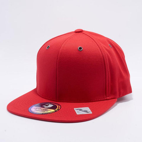 ( More Color ) Plain Cotton Flat Bill Baseball Cap Metal Eyelet Men Women Adjustable Snapback Hat
