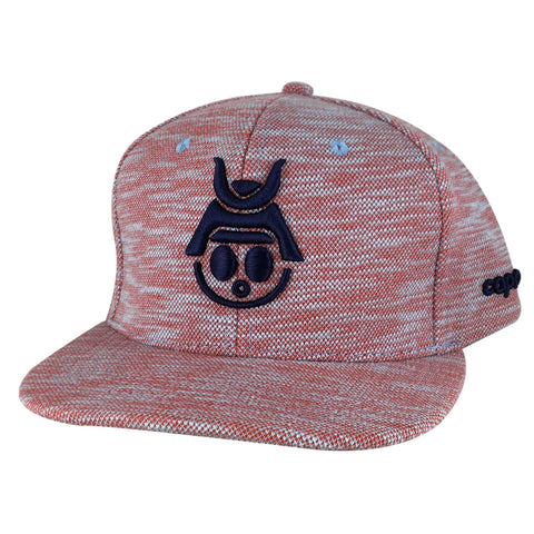Caprobot Baby Samurai Knit Fly 3D Baseball Cap Snapback Hat - Red Navy Blue
