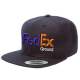 Fedex Ground Flat Bill Snapback Hats Uniform
