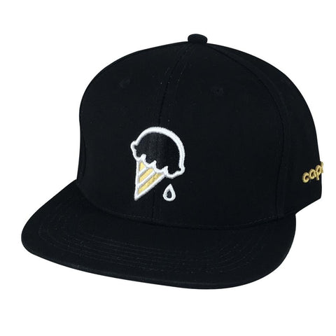 (more color) 3D Puff Ice Cream Cone Snapback Hat