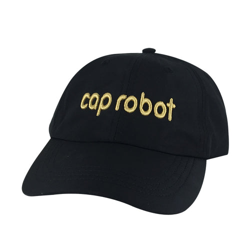 CapRobot Neon Sign Nylon Gold Adjustable Hat Dad Cap - Black