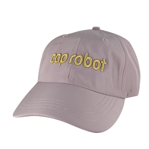 CapRobot Neon Sign Nylon Gold Adjustable Hat Dad Cap - Light Pink fa6d77a4cf4b