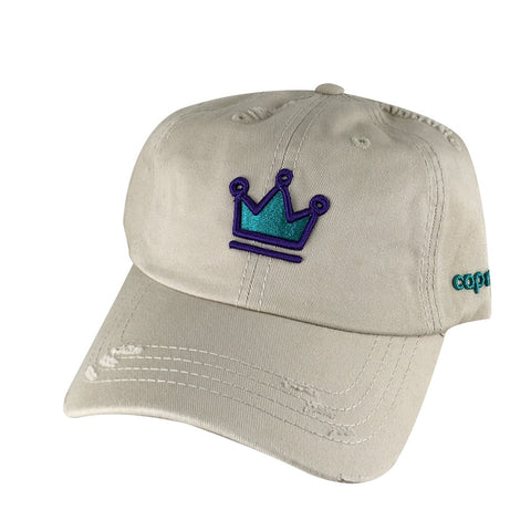 3D CROWN Distressed Cap Dad Hat