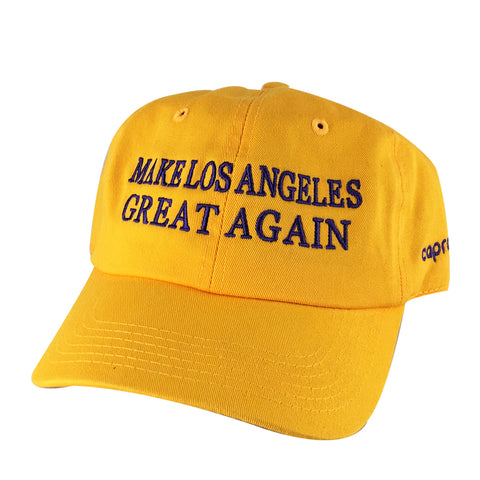 Make Los Angeles Great Again Dad Hats x Labron Lakers Colors