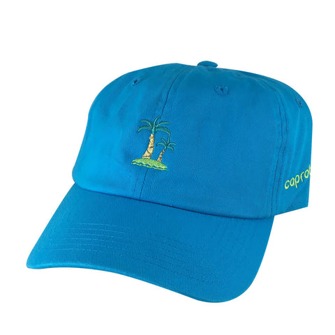 Summer Life Palm Tree Cap Dad Cap