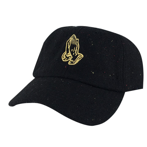 3D Pray Hand Wool Sprinkle Hat Dad Cap