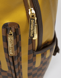 Sprayground Backpack x Gold Checked Drips ( brown )