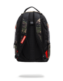 Sprayground Backpack x Sharks Mouth Mesh ( Woodland Camo )