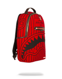 Sprayground Backpack x Reverse Sharks In Paris ( Red )