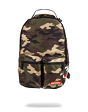 Sprayground Backpack x Side Sharks Double Cargo ( Woodland Camo )