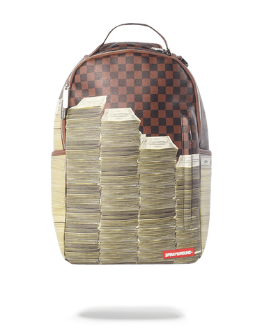 Sprayground Backpack x Stacks In Paris ( Brown )