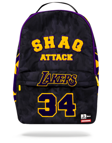 Sprayground NBA Backpack x LA Lakers SHAQ Attack Xtra Large ( Black )