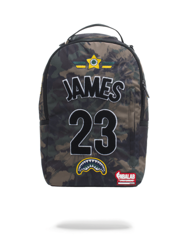 Sprayground NBA Backpack x Lebron James #23 Patch ( Camo )