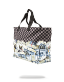 Sprayground Tote Bag x Off Shore Account Stack ( Black )