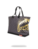 Sprayground Tote Bag x Sharks in Paris Gold stencil ( Black )
