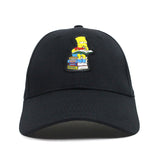 Sprayground structured Dad hats x Simpson Bart Studying Black