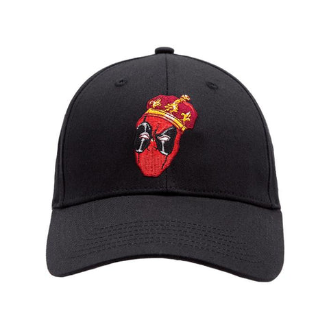 Sprayground Structured Dad hats x Deadpool King Black