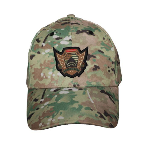Sprayground Structured Dad hats - Shark Force Emblem Desert Camo