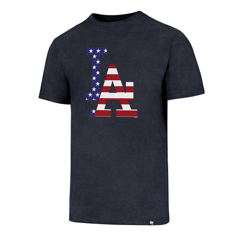 47' Brand Club Tee July 4th - Los Angeles Dodgers Tshirts Heather Navy
