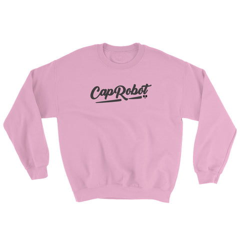 ( More Color ) Caprobot Black Script Sweatshirt