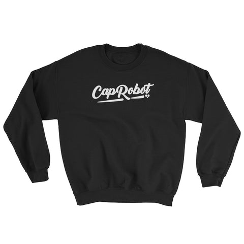 ( More Color ) Caprobot White Script Sweatshirt