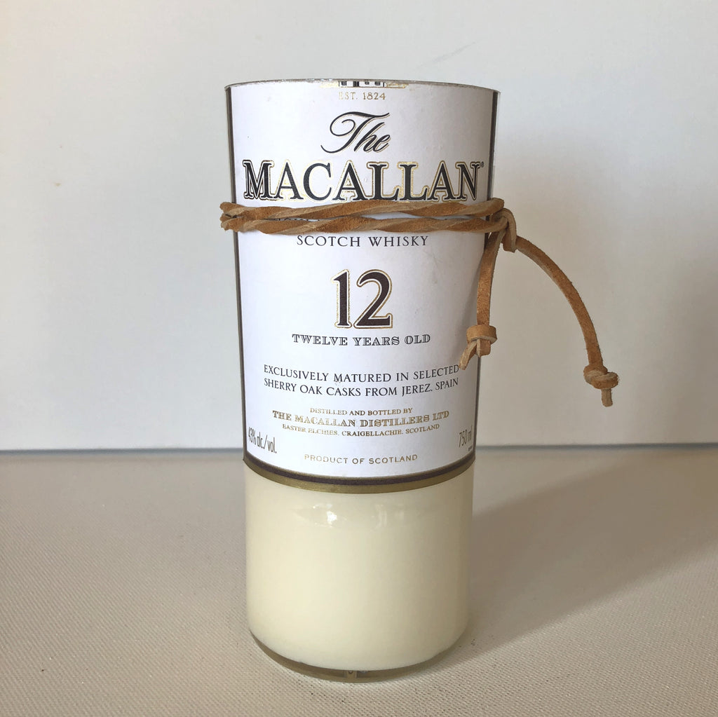 Macallan Scotch Whisky Bottle Candle