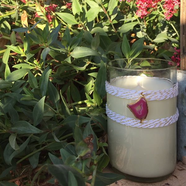 Rose Agate Candle