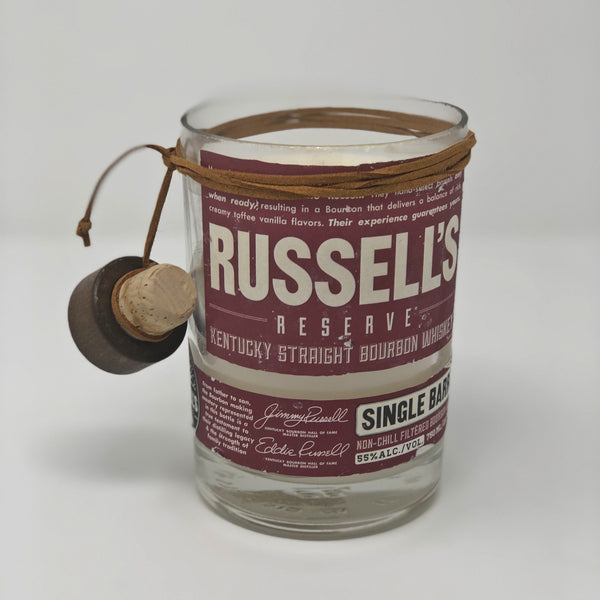Russell's Bourbon Whisky Bottle Candle