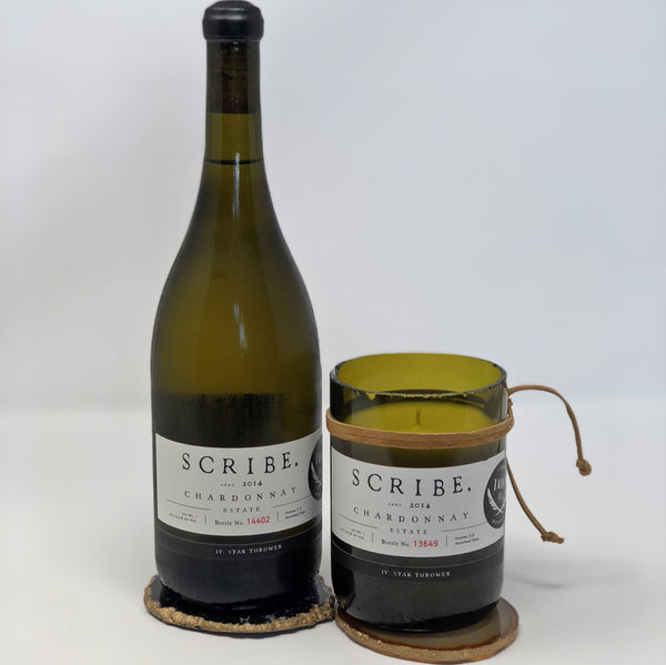 Scribe Chardonnay Bottle Candle