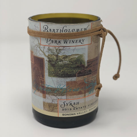 Bartholomew Park Winery Syrah Bottle Candle
