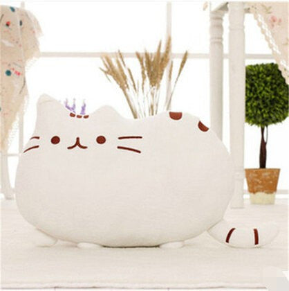 SOFT AND CUDDLY CAT PLUSH PILLOW Instyle Home Decor