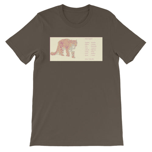 Snow Leopard Short-Sleeve Unisex T-Shirt