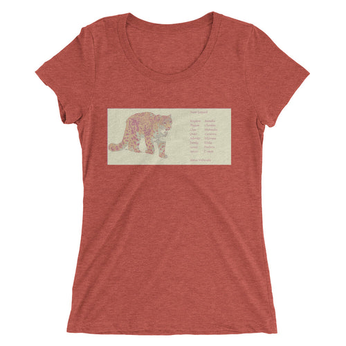 Snow Leopard Tri Blend Ladies' short sleeve t-shirt