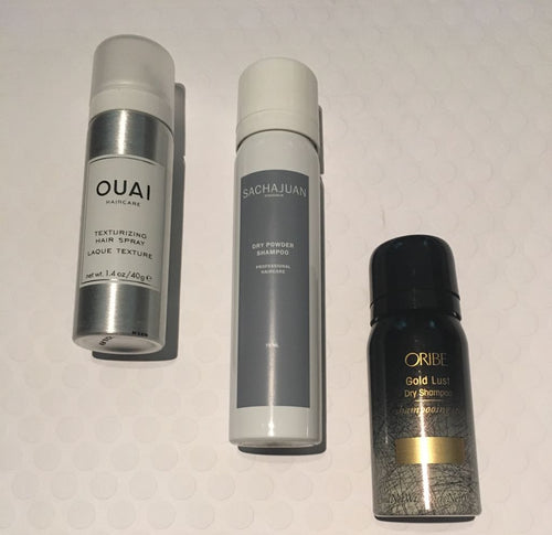 Ouai, Sachajuan and Oribe Hair Gift Set (texturizing spray and dry shampoo)