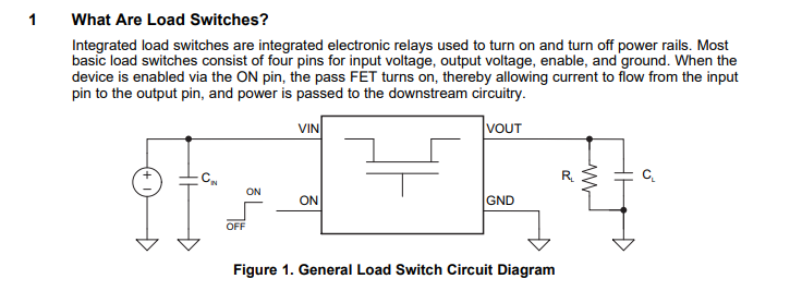 Low Power Design : Load Switches