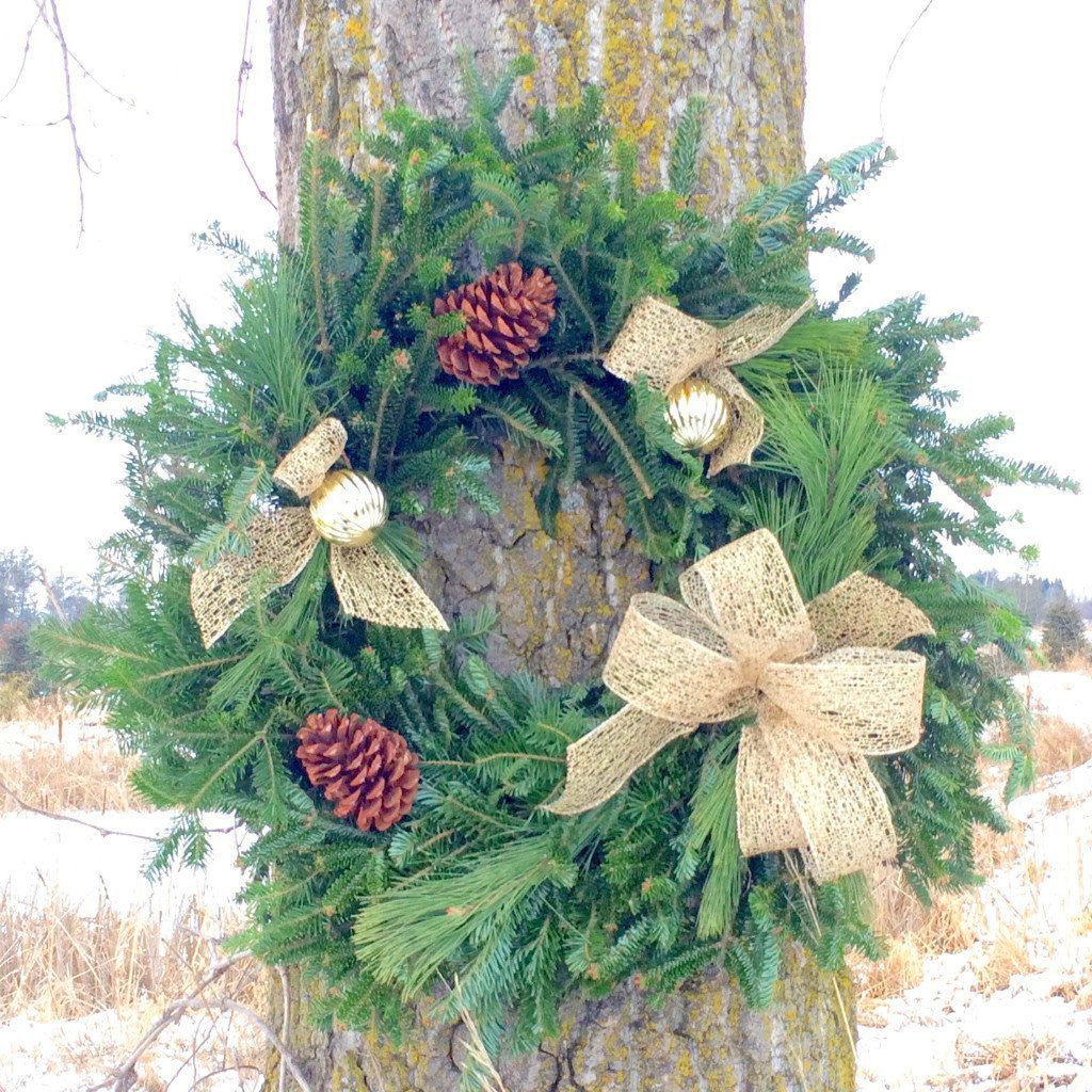 "Gold Wreath, 24""-Simple and Grand-Simple and Grand"