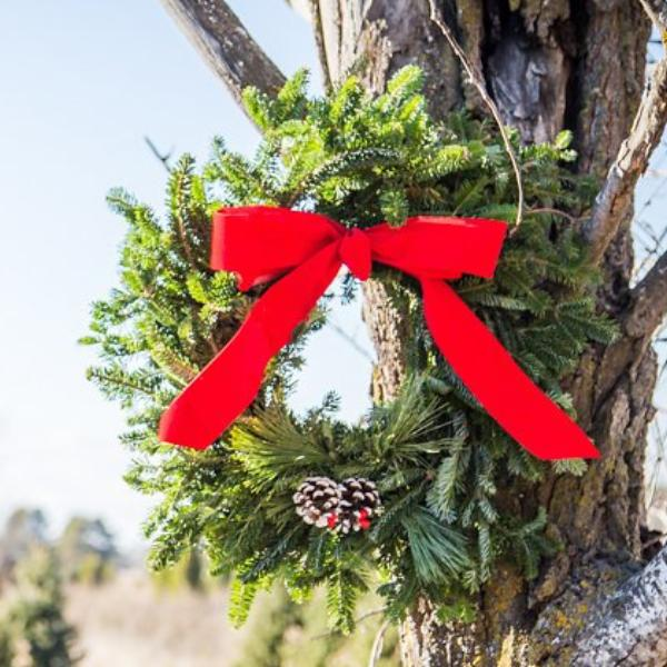 "Traditional Red Wreath, 24""-Simple and Grand-Simple and Grand"