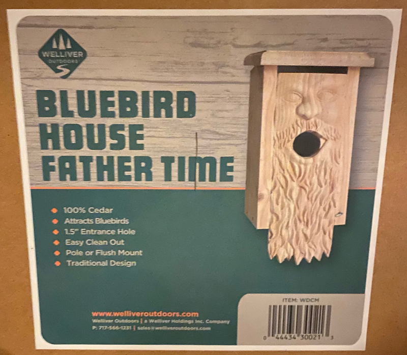 Father Time Carved Birdhouse-Simple and Grand-Simple and Grand