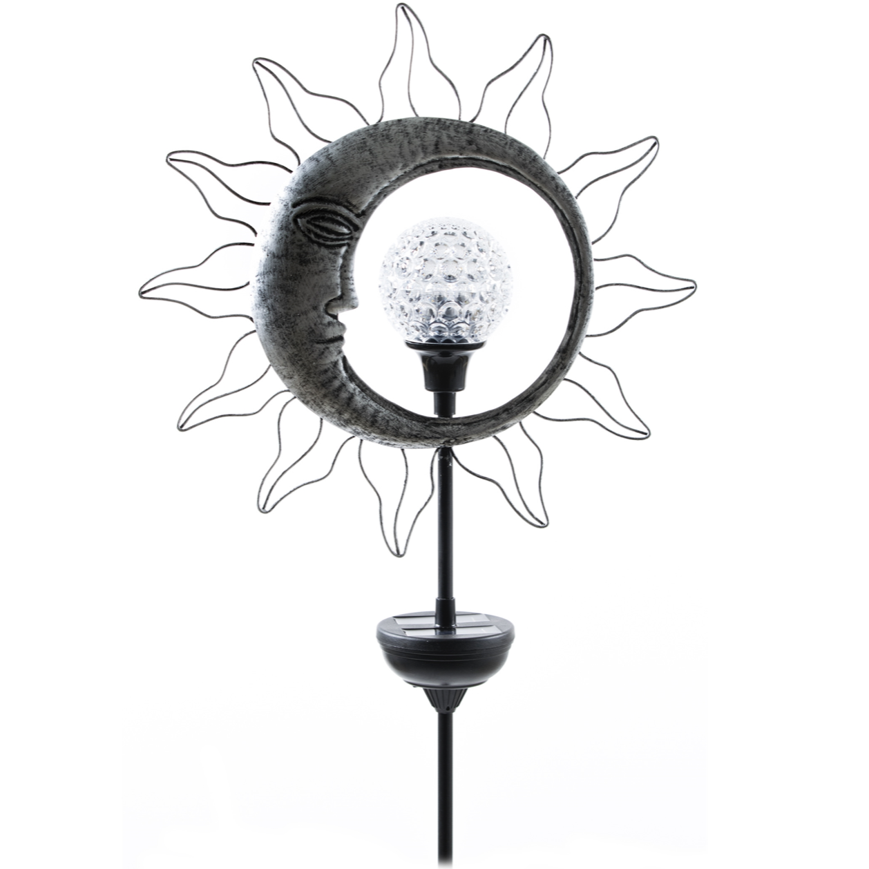 "Moon Solar Stake, 46""-Seasonal Decor-Simple and Grand-Simple and Grand"
