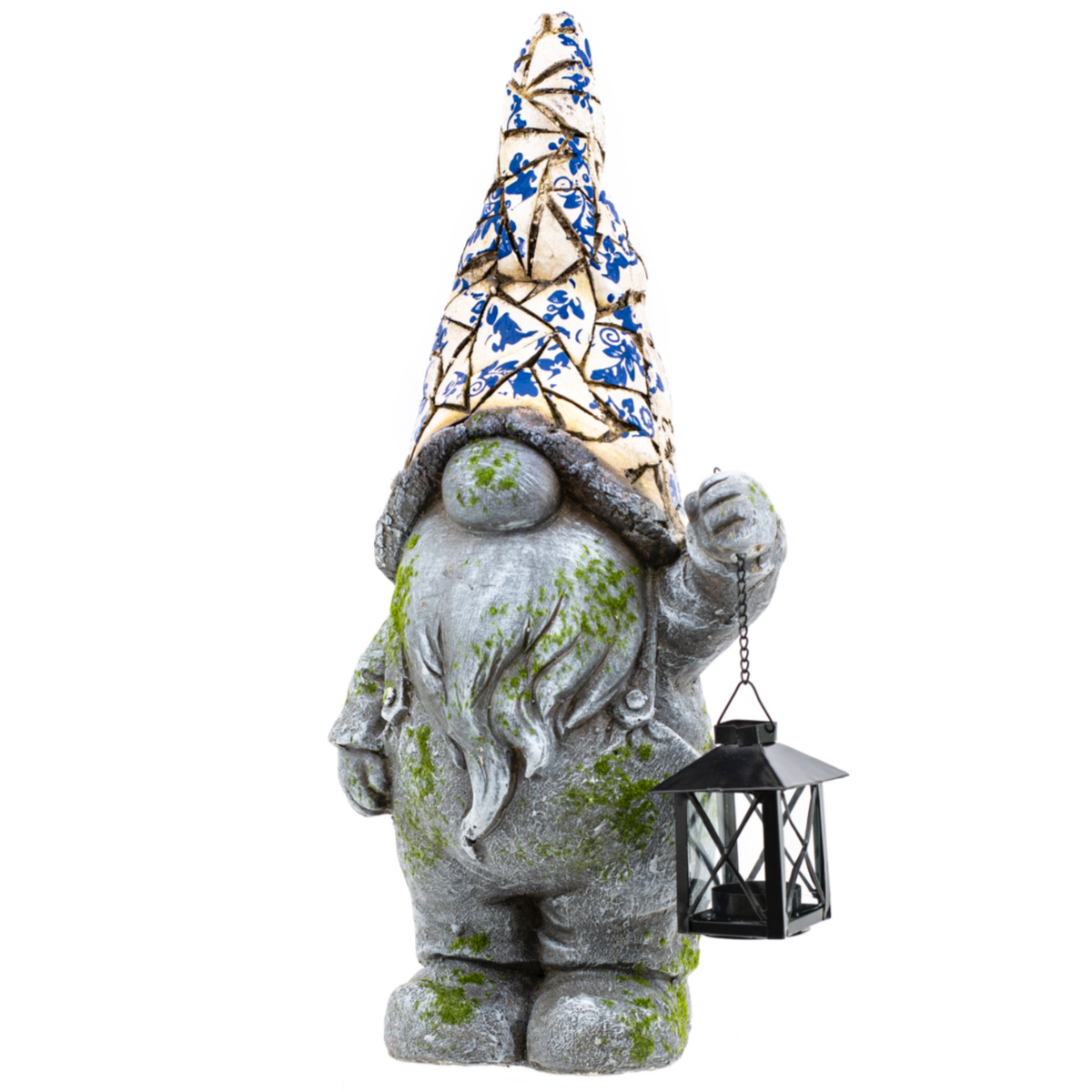Mosaic Gnome w/Lantern-Simple and Grand-Simple and Grand