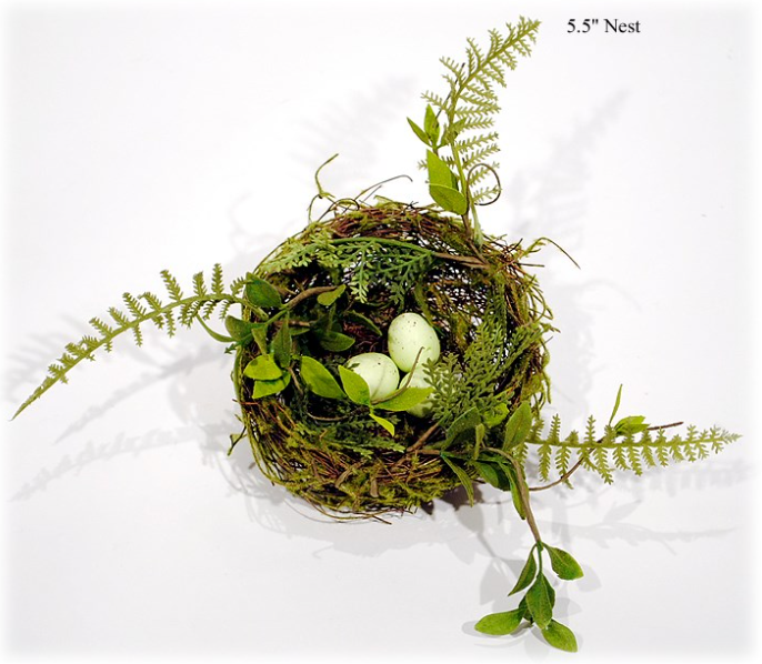 "Moss Birdnest w/Eggs, 5.5""-Simple and Grand-Simple and Grand"