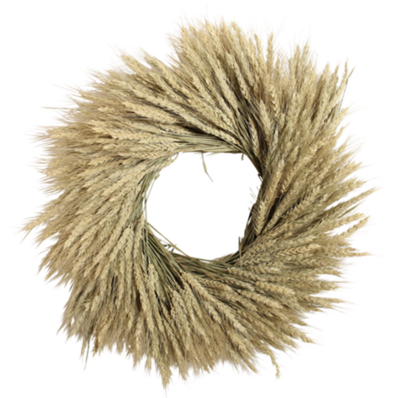 "Wheat Harvest Wreath, 18""-Simple and Grand-Simple and Grand"