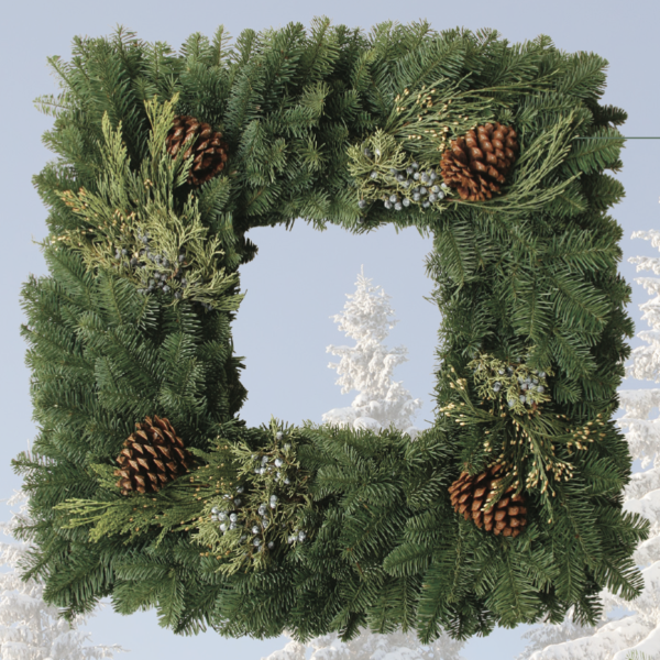 "Square Wreath, 24""-Simple and Grand-Simple and Grand"