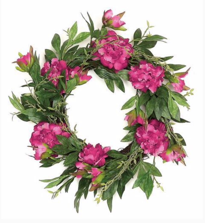 "Peony Silk Wreath, 22""-Simple and Grand-Simple and Grand"