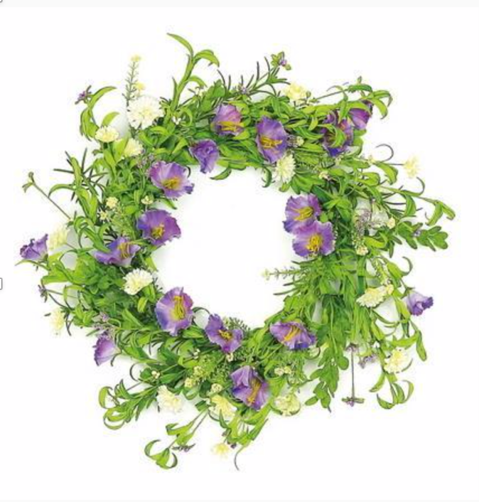 "Morning Glory Silk Wreath, 24""-Simple and Grand-Simple and Grand"
