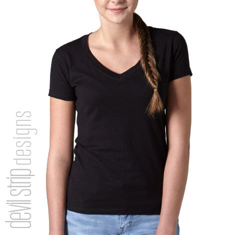 214T Ladies Soft V-Neck