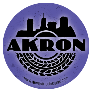 Akron Tire Sticker