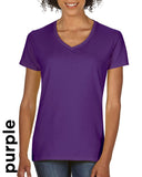 5V00L Ladies V-Neck Short Sleeve